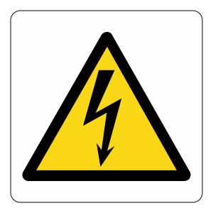 Warning Electricity Logo Sign