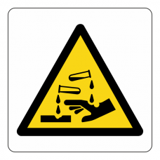 Warning Corrosive Logo Sign