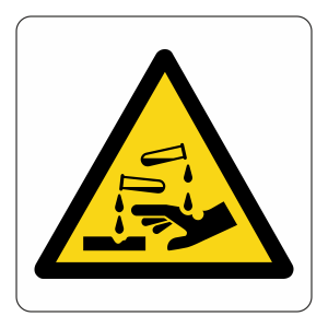 Warning Corrosive Logo Sign