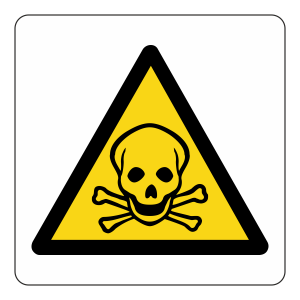 Warning Toxic Logo Sign
