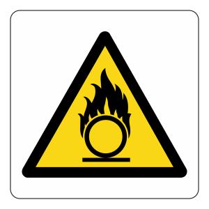 Warning Oxidant Logo Sign