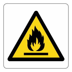 Warning Flammable Logo Sign