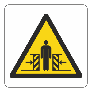 Warning Risk Of Crushing Logo Sign