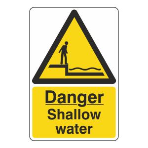 Danger Shallow Water Sign