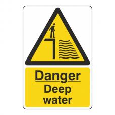 Danger Deep Water Sign