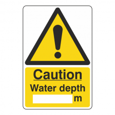 Caution Water Depth Sign