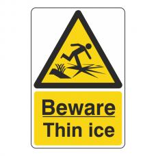 Beware Thin Ice Sign