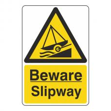 Beware Slipway Sign