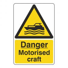 Danger Motorised Craft Sign