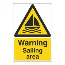 Warning Sailing Area Sign