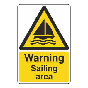 Warning Sailing Area Sign