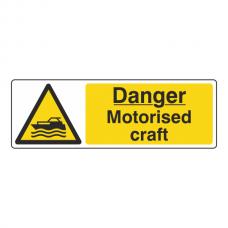 Danger Motorised Craft Sign (Landscape)