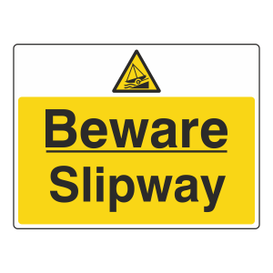 Beware Slipway Sign (Large Landscape)