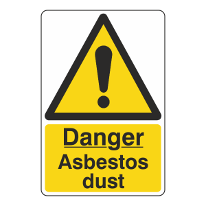 Danger Asbestos Dust Sign