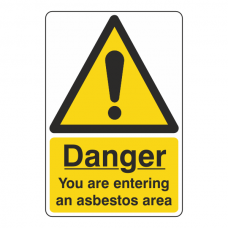 You Are Entering Asbestos Area Sign