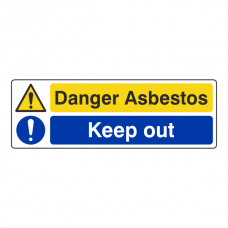 Danger Asbestos / Keep Out Sign (Landscape)
