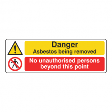 Asbestos / No Unauthorised Persons Sign (Landscape)
