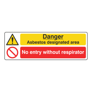 Danger Asbestos / No Entry Sign (Landscape)