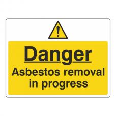Asbestos Removal In Progress Sign (Large Landscape)