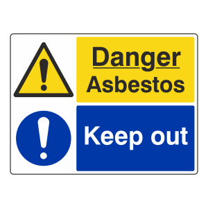 Danger Asbestos / Keep Out Sign (Large Landscape)