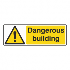 Dangerous Building Sign (Landscape)