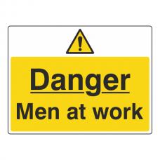 Danger Men At Work Sign (Large Landscape)