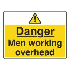 Danger Men Working Overhead Sign (Large Landscape)