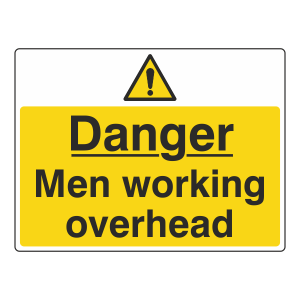 Danger Men Working Overhead Sign (Large Landscape)