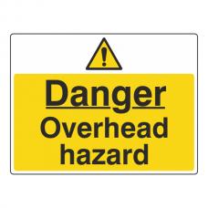 Danger Overhead Hazard Sign (Large Landscape)