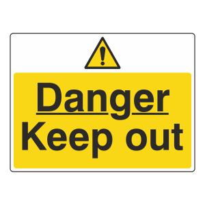 Danger Keep Out Sign (Large Landscape)