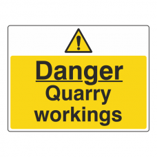 Danger Quarry Workings Sign (Large Landscape)