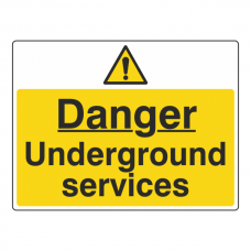 Danger Underground Services Sign (Large Landscape)