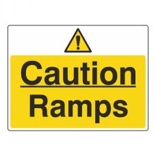 Caution Ramps Sign (Large Landscape)