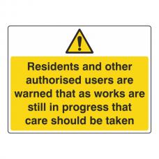Care Should Be Taken Sign (Large Landscape)