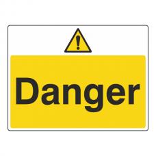 Danger Sign (Large Landscape)