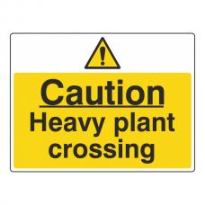 Caution Heavy Plant Crossing Sign (Large Landscape)