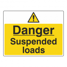 Danger Suspended Loads Sign (Large Landscape)