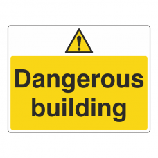Dangerous Building Sign (Large Landscape)