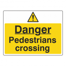 Danger Pedestrians Crossing Sign (Large Landscape)