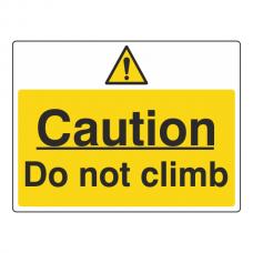 Caution Do Not Climb Sign (Large Landscape)