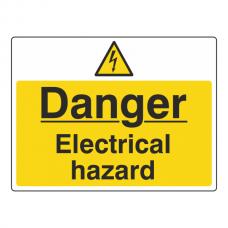 Danger Electrical Hazard Sign (Large Landscape)