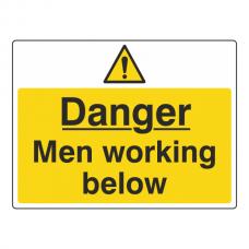 Danger Men Working Below Sign (Large Landscape)
