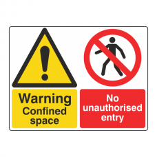 Confined Space / No Entry Sign (Large Landscape)