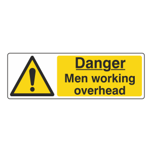 Danger Men Working Overhead Sign (Landscape)