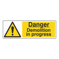 Danger Demolition In Progress Sign (Landscape)