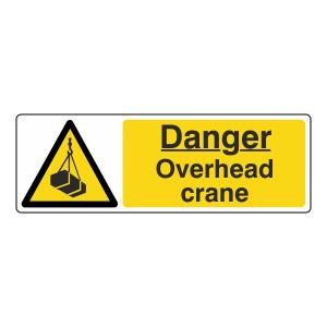 Danger Overhead Crane Sign (Landscape)