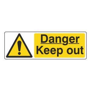 Danger Keep Out Sign (Landscape)