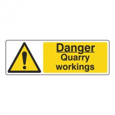 Danger Quarry Workings Sign (Landscape)
