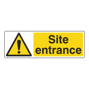 Site Entrance Sign (Landscape)