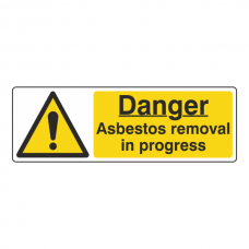 Danger Asbestos Removal In Progress Sign (Landscape)